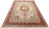Tabriz Beige Hand Knotted 66 X 102  Area Rug 254-136999 Thumb 2
