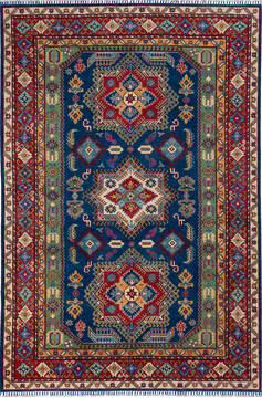 "Kazak Blue Hand Knotted 6'6"" X 9'9""  Area Rug 700-137057"