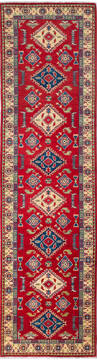 Afghan Kazak Red Runner 10 to 12 ft Wool Carpet 137074