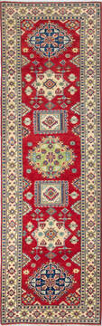 "Kazak Red Runner Hand Knotted 2'9"" X 8'11""  Area Rug 700-137076"