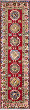 "Kazak Red Runner Hand Knotted 2'9"" X 10'0""  Area Rug 700-137078"