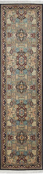 "Pak-Persian Blue Runner Hand Knotted 2'7"" X 10'2""  Area Rug 700-137086"