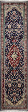 "Pak-Persian Blue Runner Hand Knotted 2'7"" X 10'1""  Area Rug 700-137087"
