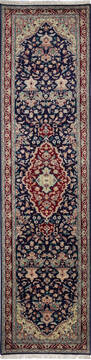 "Pak-Persian Blue Runner Hand Knotted 2'6"" X 10'2""  Area Rug 700-137088"