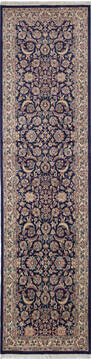 "Pak-Persian Blue Runner Hand Knotted 2'7"" X 9'11""  Area Rug 700-137089"