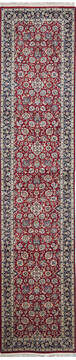 "Pak-Persian Red Runner Hand Knotted 2'7"" X 11'11""  Area Rug 700-137090"