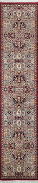 "Pak-Persian Red Runner Hand Knotted 2'6"" X 11'7""  Area Rug 700-137091"