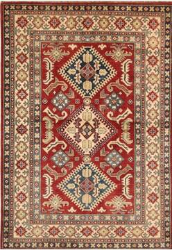 "Kazak Red Hand Knotted 4'0"" X 5'11""  Area Rug 700-137105"