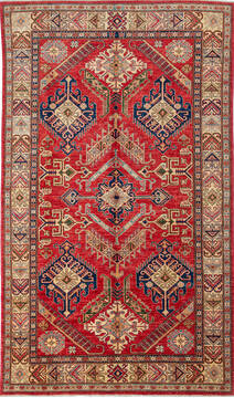 "Kazak Red Hand Knotted 6'1"" X 8'0""  Area Rug 700-137415"