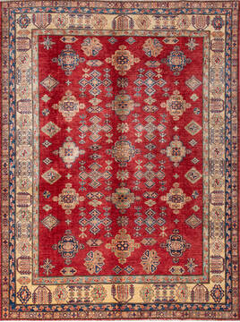 "Kazak Red Hand Knotted 5'7"" X 9'5""  Area Rug 700-137416"