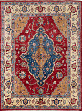 "Kazak Red Hand Knotted 5'10"" X 7'10""  Area Rug 700-137417"