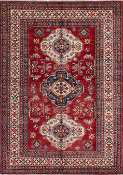 "Kazak Red Hand Knotted 4'9"" X 6'6""  Area Rug 700-137432"