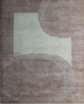 "Tibetan Brown Hand Knotted 8'0"" X 10'0""  Area Rug 902-137473"