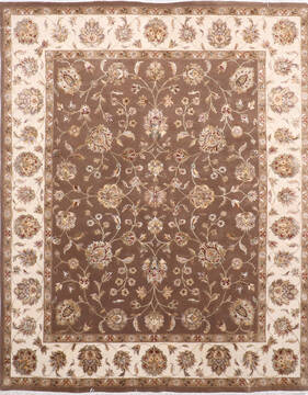 "Jaipur Brown Hand Knotted 8'1"" X 10'1""  Area Rug 905-137484"