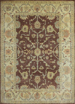 "Agra Brown Hand Knotted 6'0"" X 9'0""  Area Rug 902-137507"