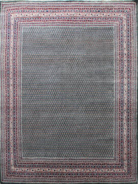"Persian Green Hand Knotted 8'6"" X 11'0""  Area Rug 902-137511"