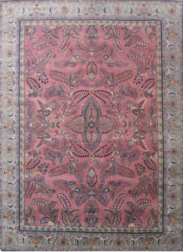 "Sarouk Beige Hand Knotted 10'0"" X 13'0""  Area Rug 902-137519"