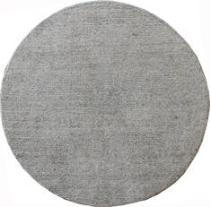 "Modern Grey Round Hand Loomed 5'0"" X 5'0""  Area Rug 902-137532"