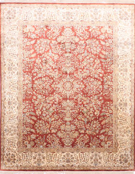 "Jaipur Red Hand Knotted 7'11"" X 10'1""  Area Rug 905-137533"