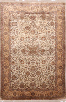 "Jaipur White Hand Knotted 6'0"" X 9'0""  Area Rug 905-137535"