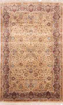 "Jaipur Yellow Hand Knotted 3'11"" X 6'2""  Area Rug 905-137536"