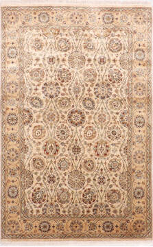 "Jaipur Beige Hand Knotted 3'11"" X 6'0""  Area Rug 905-137537"