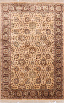 "Jaipur Yellow Hand Knotted 3'11"" X 6'0""  Area Rug 905-137538"