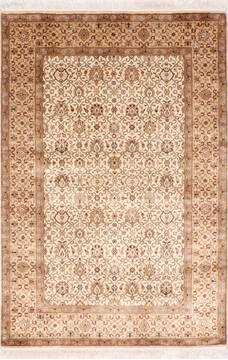 "Jaipur White Hand Knotted 4'1"" X 6'2""  Area Rug 905-137541"