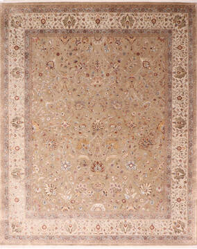 "Jaipur Brown Hand Knotted 8'2"" X 10'2""  Area Rug 905-137544"