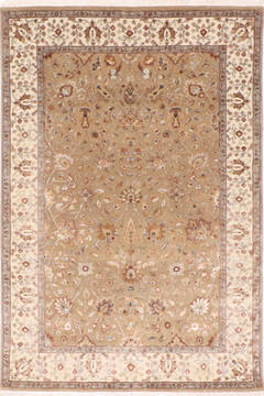 "Jaipur Brown Hand Knotted 4'1"" X 6'1""  Area Rug 905-137557"