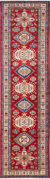 "Kazak Red Runner Hand Knotted 2'7"" X 9'9""  Area Rug 700-137576"