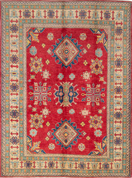 "Kazak Red Hand Knotted 5'10"" X 7'10""  Area Rug 700-137582"