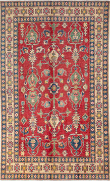 "Kazak Red Hand Knotted 5'2"" X 8'6""  Area Rug 700-137583"