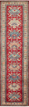 "Kazak Red Runner Hand Knotted 2'8"" X 9'10""  Area Rug 700-137587"