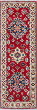 "Kazak Red Runner Hand Knotted 2'0"" X 5'10""  Area Rug 700-137623"