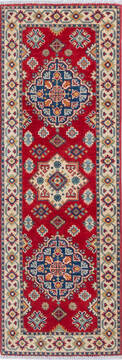 "Kazak Red Runner Hand Knotted 2'0"" X 5'10""  Area Rug 700-137624"