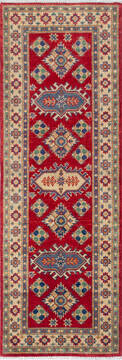 "Kazak Red Runner Hand Knotted 2'0"" X 5'10""  Area Rug 700-137625"