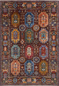 "Chobi Brown Hand Knotted 5'11"" X 8'4""  Area Rug 700-137642"