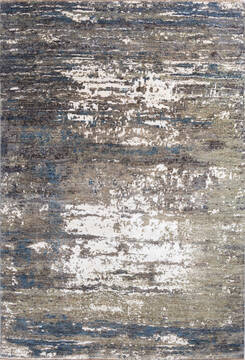 "Modern Grey Hand Knotted 6'1"" X 8'10""  Area Rug 700-137655"