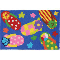 "Jellybean Waterfront Blue 1'8"" X 2'6"" Area Rug JB-CE034 815-137681"