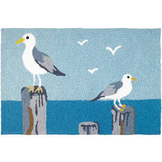 "Jellybean Waterfront Blue 1'8"" X 2'6"" Area Rug JB-CE037 815-137682"
