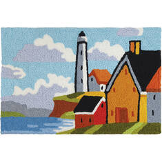 "Jellybean Waterfront Red 1'8"" X 2'6"" Area Rug JB-CHB003 815-137686"
