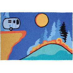 "Jellybean Lodge Blue 1'8"" X 2'6"" Area Rug JB-NDS002 815-137824"