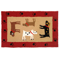 "Jellybean Pattern Red 1'8"" X 2'6"" Area Rug JB-SFG037 815-137854"