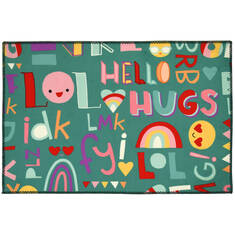 "Jellybean Kids Blue 1'8"" X 2'6"" Area Rug PR-HRS002B 815-138004"