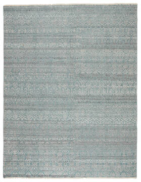 Jaipur Living Gaia Blue Rectangle 9x12 ft Wool and Viscose Carpet 138826
