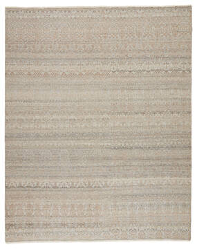 Jaipur Living Gaia Grey Rectangle 8x10 ft Wool and Viscose Carpet 138833