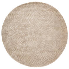 Jaipur Living Genesis Beige Round 9 ft and Larger Wool and Viscose Carpet 138931