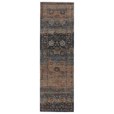 Jaipur Living Myriad Blue Runner 6 to 9 ft Polypropylene and Polyester Carpet 139106