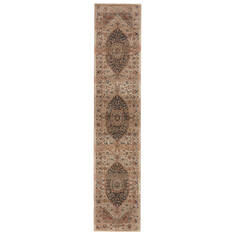 Jaipur Living Myriad Beige Runner 10 to 12 ft Polypropylene and Polyester Carpet 139112